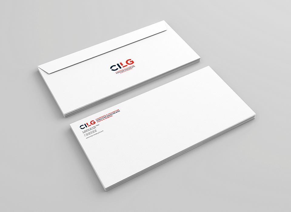 Identité visuelle pour CILG Construction.