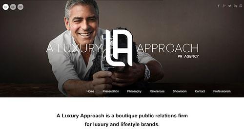 A Luxury Approach : Public Relations Agency - Création de site internet
