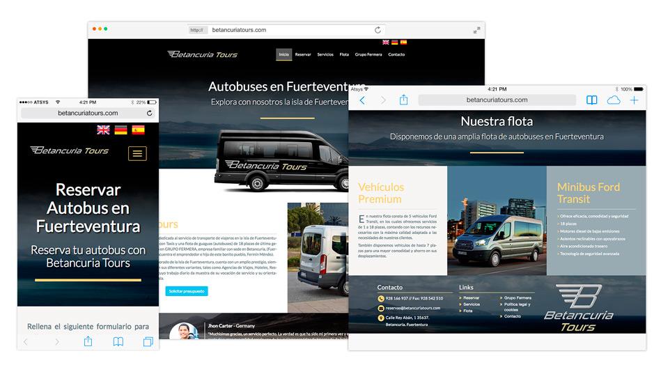 Betancuria Tours - Diseño de logo y web - Creación de Sitios Web