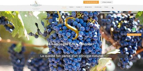 Champagne Erick Schreiber - Création de site internet