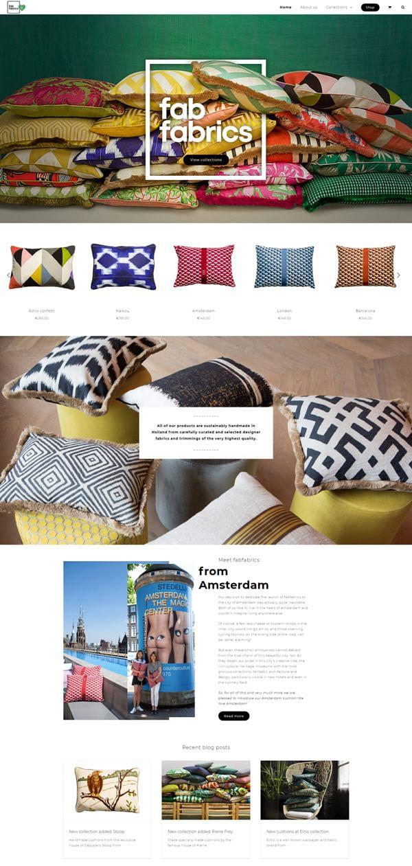 Webdesign + development fabfabrics.nl