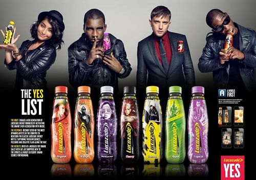 LUCOZADE ENERGY - THE YES LIST - Advertising