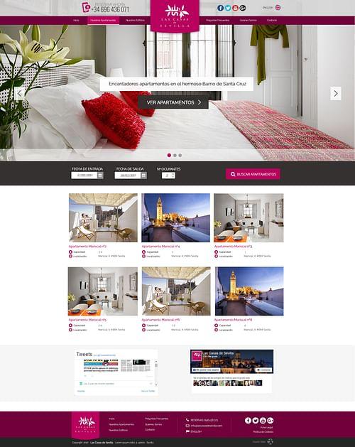 Las Casas de Sevilla Website - Creación de Sitios Web
