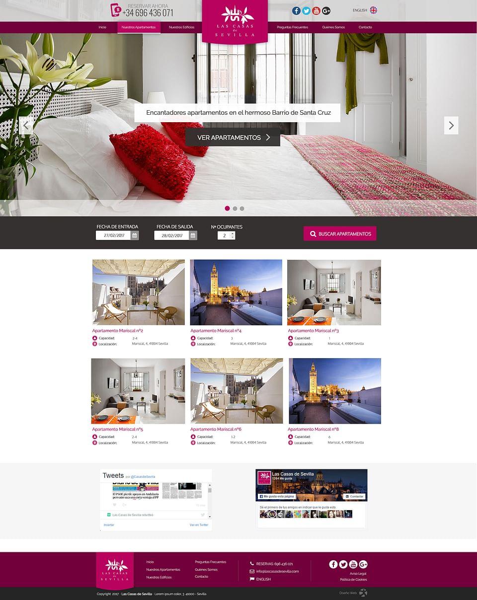 Las Casas de Sevilla Website
