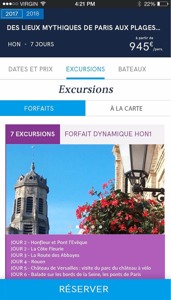 Design des sites e-commerce CroisiEurope