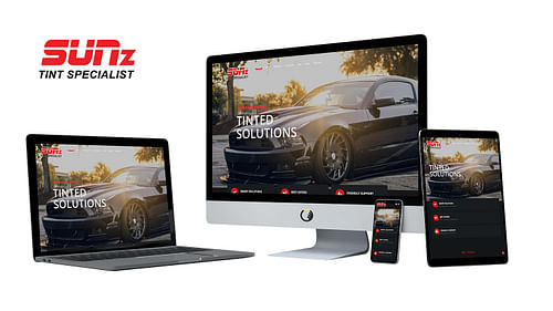 SUNz Tint Specialist Website - Website Creation