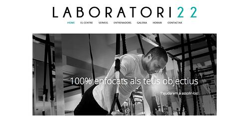 Website design for gym - Creación de Sitios Web