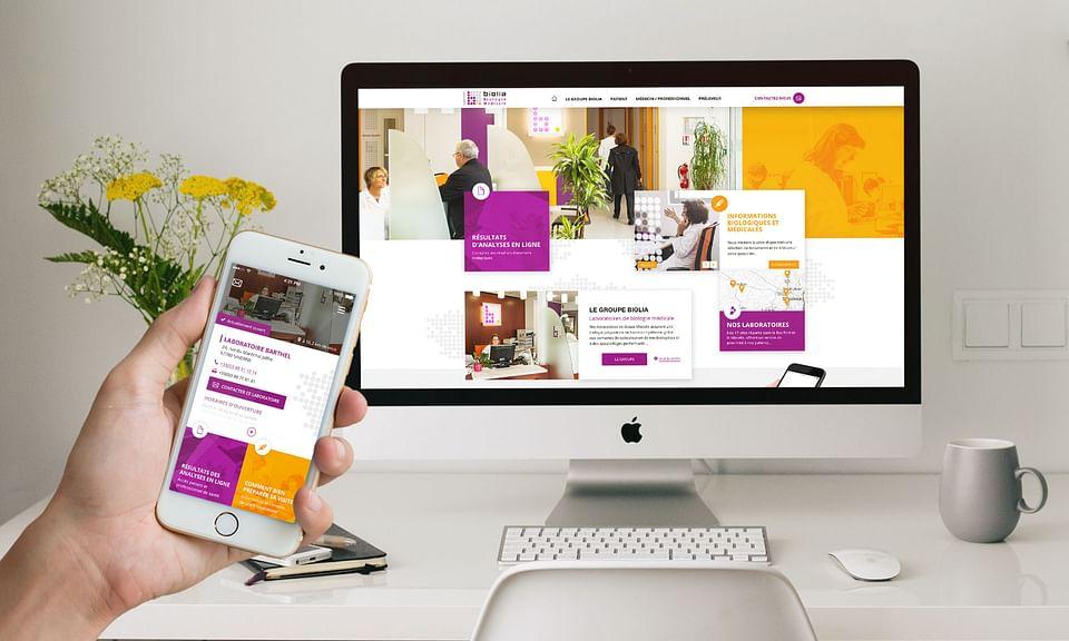 Site internet, application mobile et vidéo Biolia