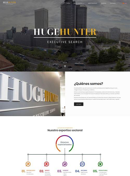 Web corporativa para la consultora Huge Hunter - Creación de Sitios Web