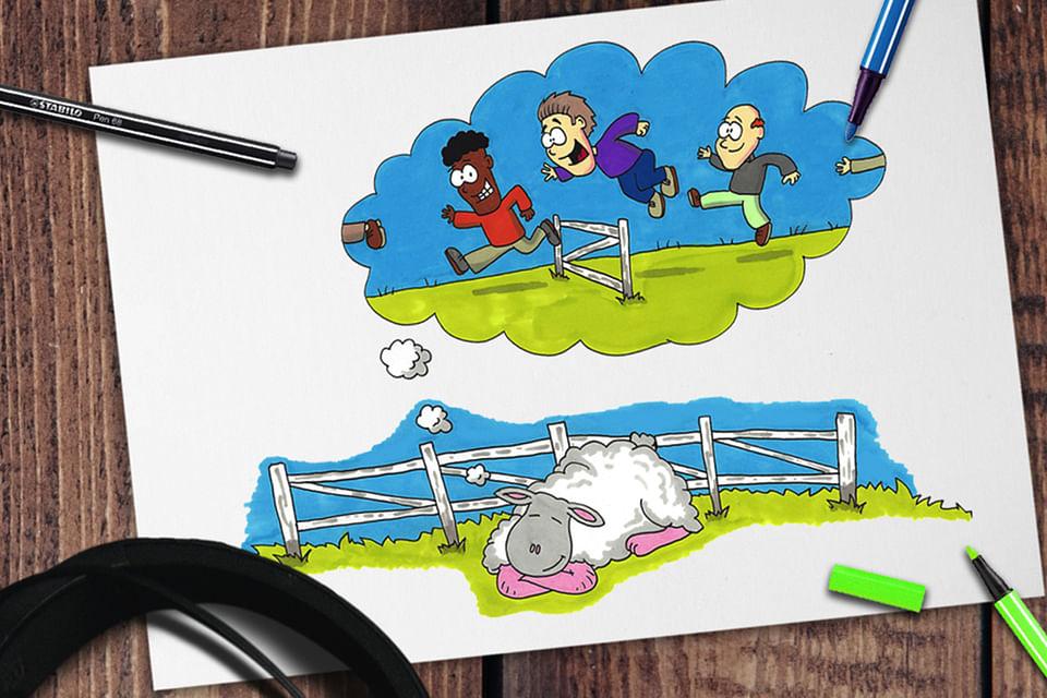 Stabilo Social Media Cartoons