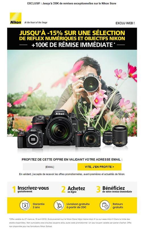 Nikon - Publicité en ligne