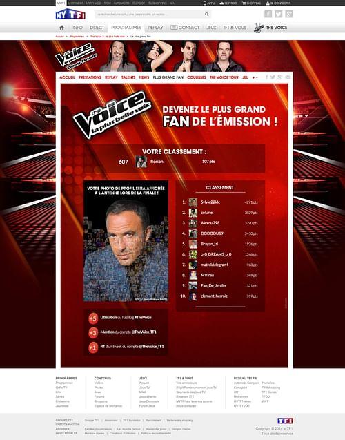The Voice - TF1 - E-commerce