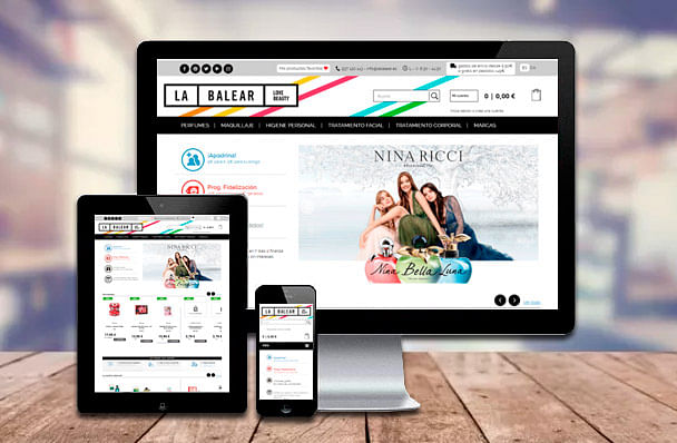 Desarrollo web - Perfumes La Balear