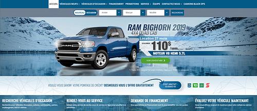 New custom Brand makeover Demeules Chrysler Laval - SEO