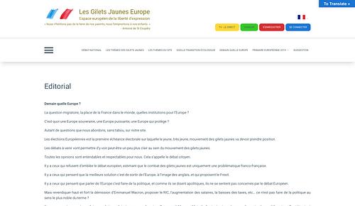 Création du site les Gilets Jaunes Europe & Forum - Création de site internet