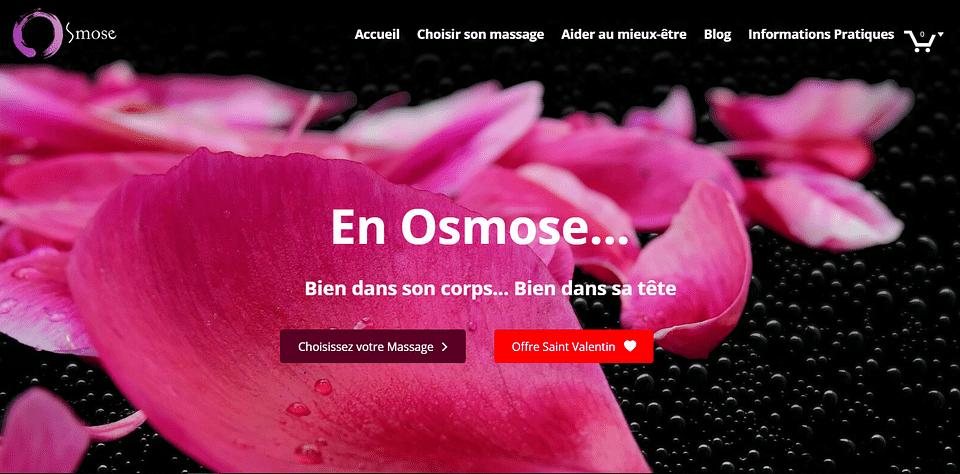 Osmose Massage - Réalisation de l'agence In-sphere