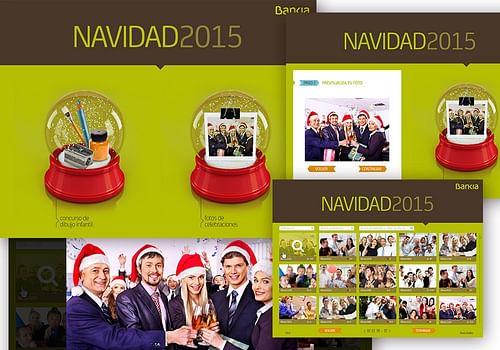 Sistema de eCards navideñas para Bankia - Aplicación Web