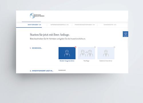 Das Finanzierungsportal für den Mittelstand - Webseitengestaltung