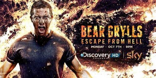 Bear Grylls, Escape from Hell - Advertising