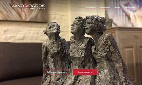 Art Gallery Vandevoorde - Website Creatie