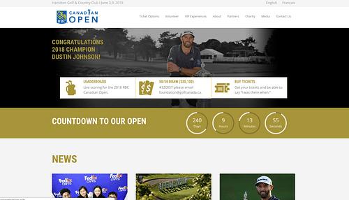RBC Canadian Open Website Design & Development - Website Creation