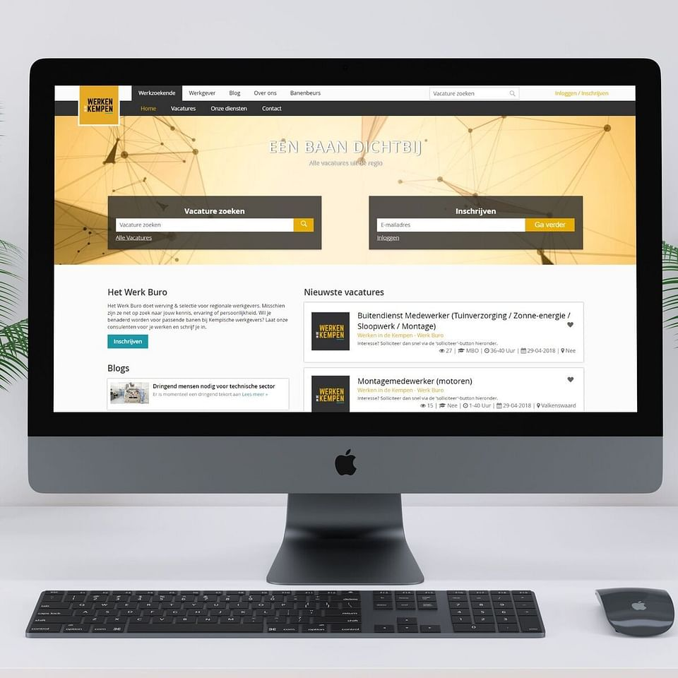 Werken in de Kempen: website en app