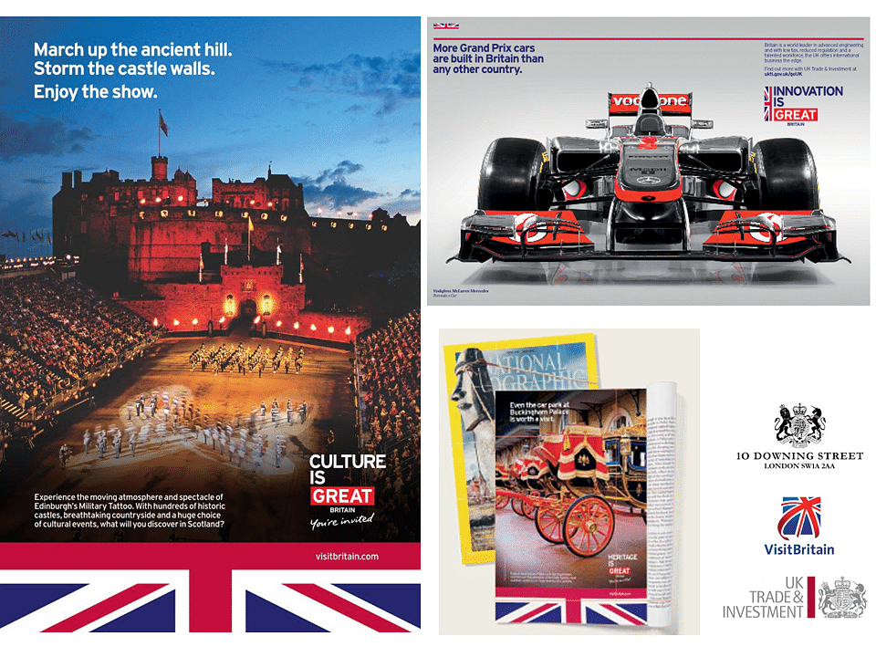 GREAT Britain international tourism and campaign