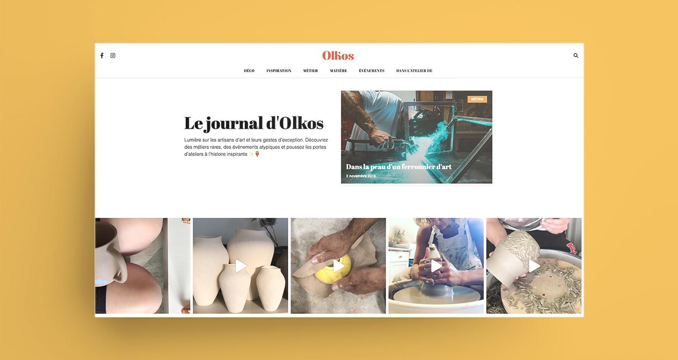 Le journal d'Olkos - Création de site internet