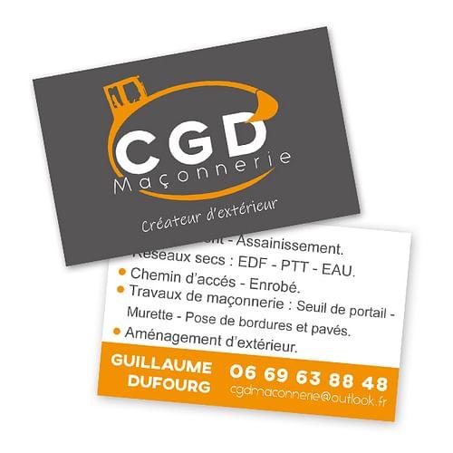 Carte de visite haut de gamme CGD Maçonnerie - Design & graphisme