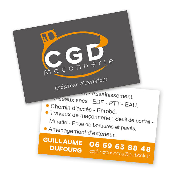 Carte de visite haut de gamme CGD Maçonnerie