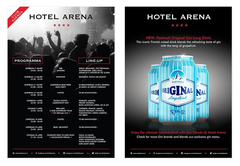 Poster ontwerp Hotel Arena