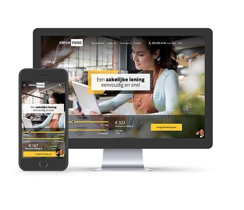 Swishfund website - Website Creatie