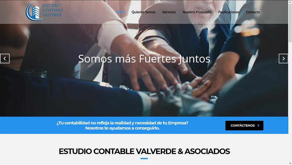 Diseño de página web para Estudio Contable