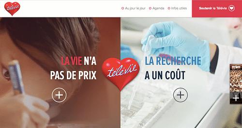 Website Télévie - Application web