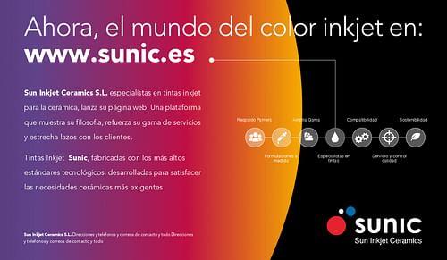 Diseño y lanzamiento página web SUNIC - Diseño Gráfico