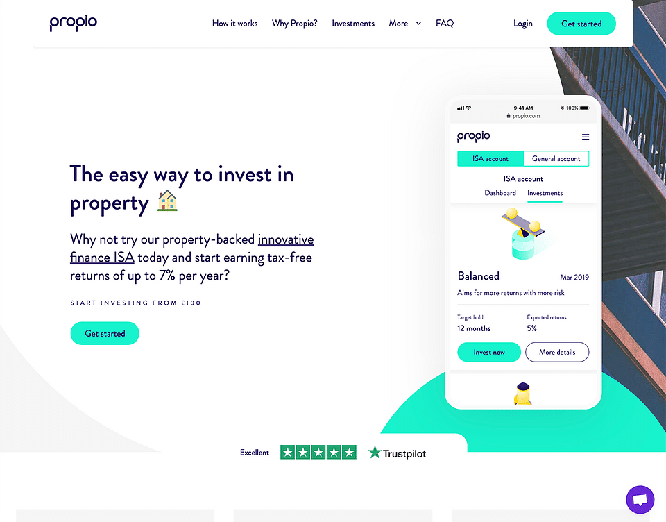 UX & design for a property investment startup