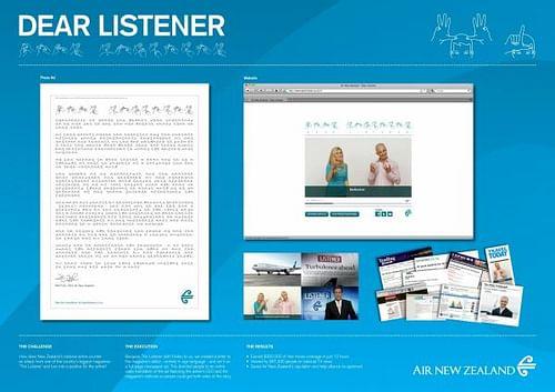 DEAR LISTENER - Advertising