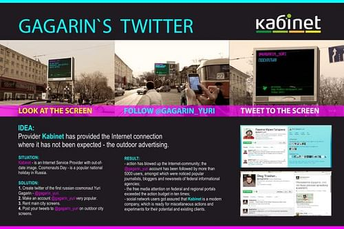 Tweets to the space - Advertising