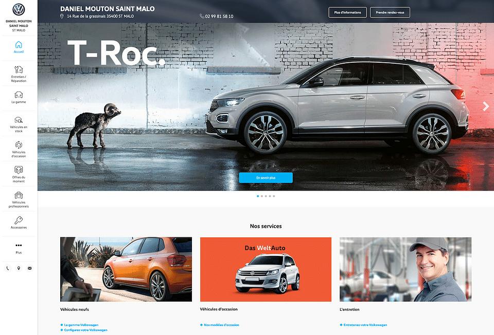 Sites concessionnaires Volkswagen