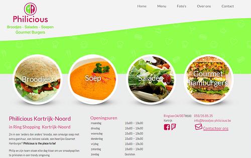Philicious Foods - Website Creatie
