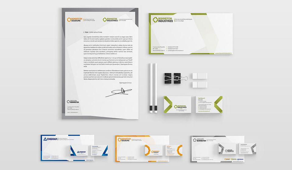 Groupe Bonnefon - Graphisme identitaire