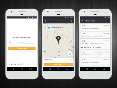 Hire A Cab Passenger And Driver Apps