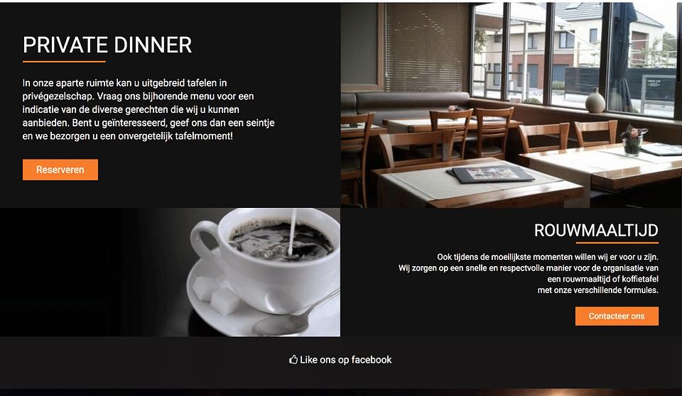 Website Brasserie den hoorn