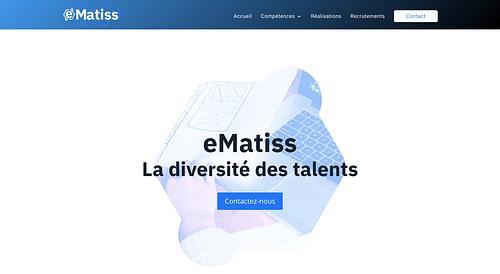 Refonte Web du site Ematiss - Création de site internet