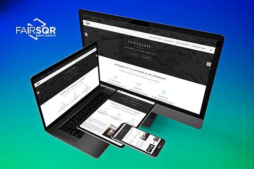 Site corporative agence d'événementielle - Application mobile