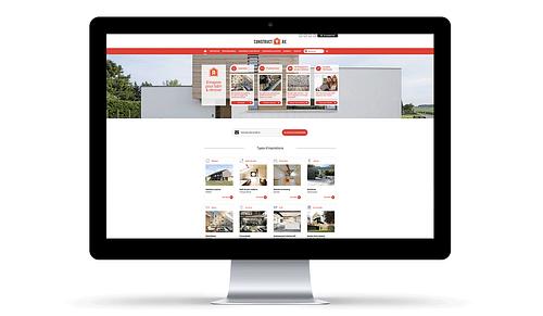 Web design and development for ConstructR - Création de site internet