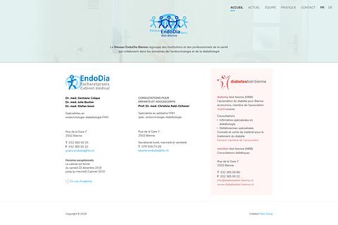 EndoDia - Site Internet