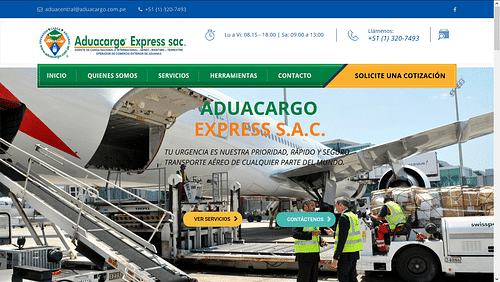 Diseño de página web para agencia de aduana - Creación de Sitios Web