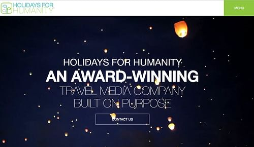 Website design for Holidays for Humanity - Graphic Design