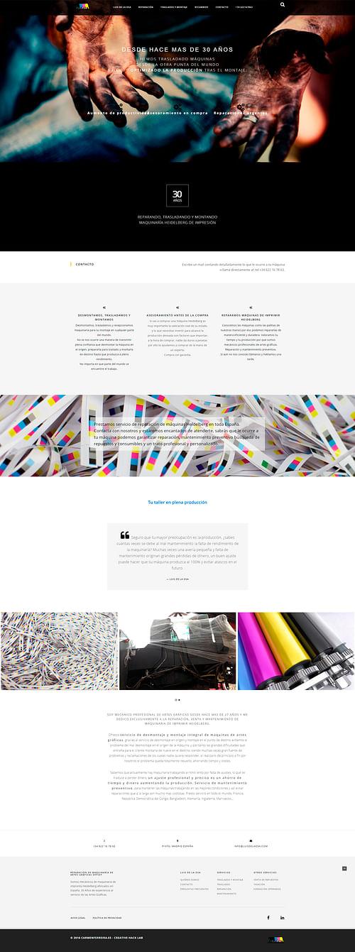 Luis de la Osa Mecánico Heidelberg - Creación de Sitios Web